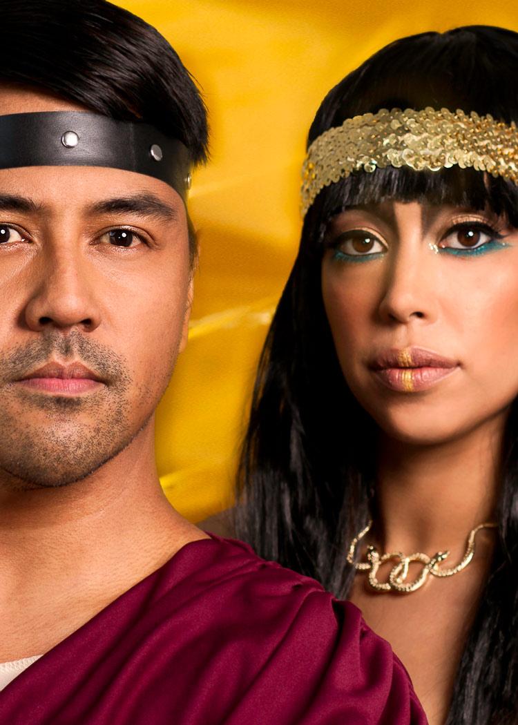 Cleopatra couple portrait