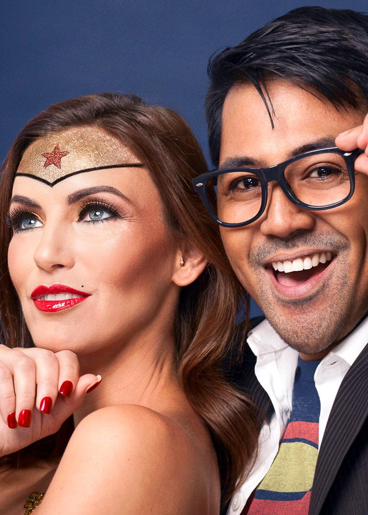 Wonder woman couple portrait